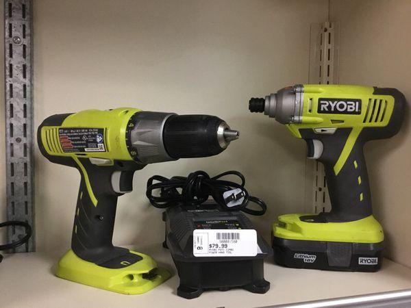 Ryobi 18v Drill and Impact Set