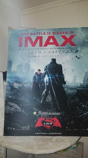 Batman vs superman foam board poster