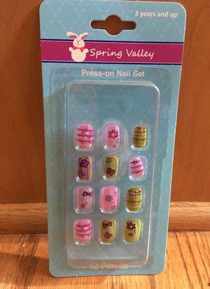 Press on nail set for little girls