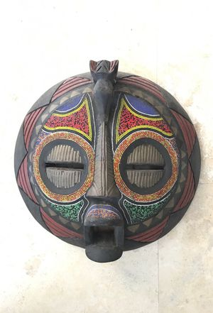 "African tribal mask 16"" diameter"