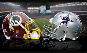 2 Tickets Redakins vs Cowboys Section 216 parking pass included