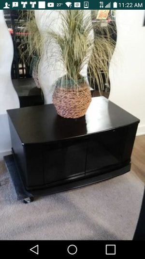 32 x 16 BLACK TV STAND ROTATES