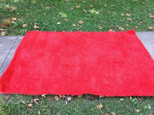 "Red Shag Area Rug 4'4"" x 6'4"""