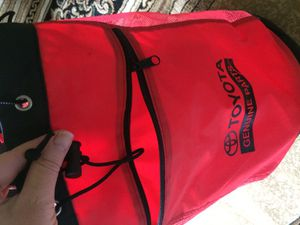 Toyota picnic red backpack