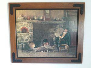 Antique fire place picture