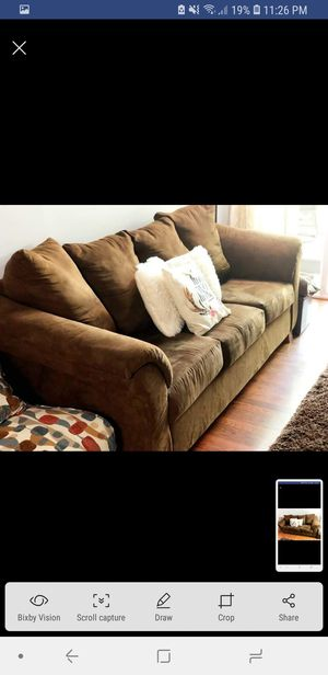 living room sofa- dark brown