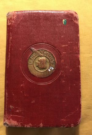 1925 Indian Motorcycle handbook, address, logbook, and record book
