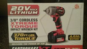 Earthquake XT cordless 3/8 Drive Impact kit