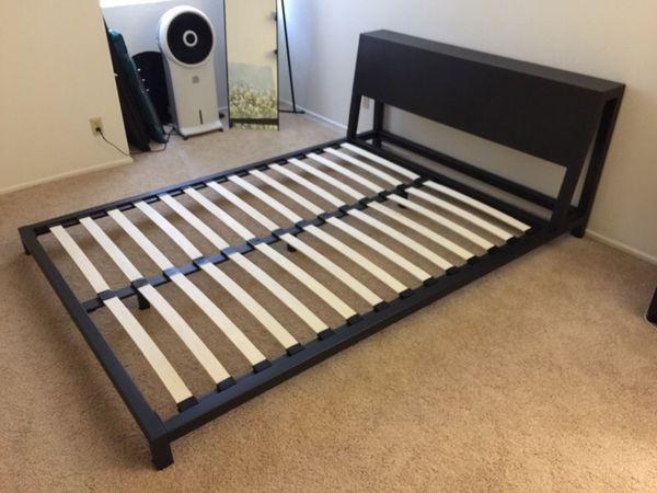 Cb2 Alpine Gunmetal Queen Bed Frame Furniture In Los