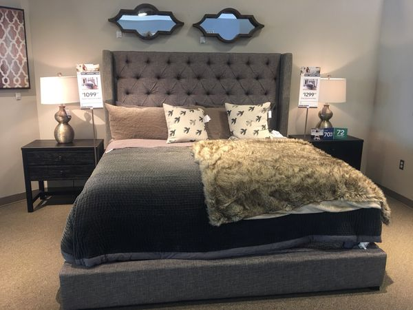 King Upholstered Headboard By Sorinella From Ashley 2