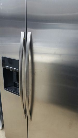 Stainless side x side refrigerator 3 months warranty