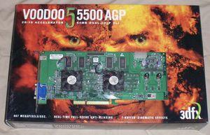 3dfx Voodoo 5 5500 AGP Like New