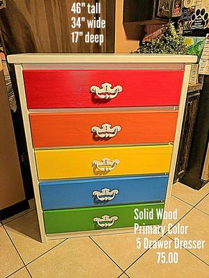 5 Drawer Primary Color Dresser