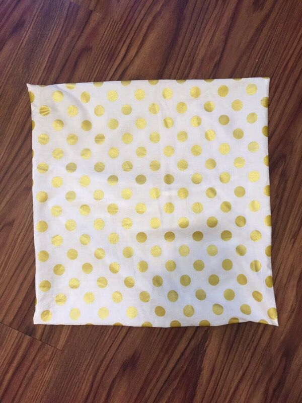 White And Gold Polka Dot Pillow Cover Case Household In