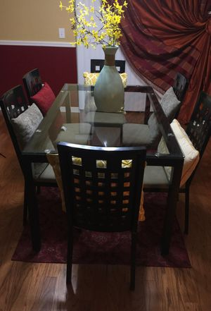 6 chair dinette table