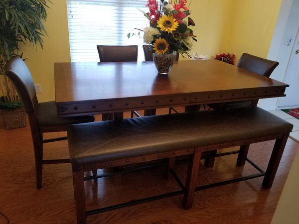 Dining Set Red Hook Pecan Counter Height Room Furniture In Charlotte NC