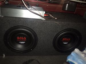 1600 watt amp and a 10s box for sale!