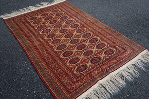 Handmade Persian Rug Red Beige Gold 4x6