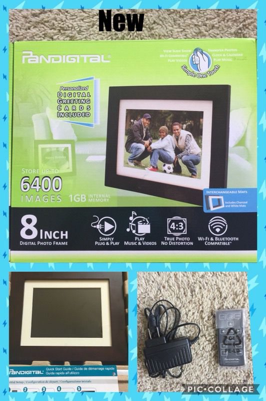 Pandigital Pi8056w01b 8 Inch Lcd Digital Photo Frame Espresso 1gb