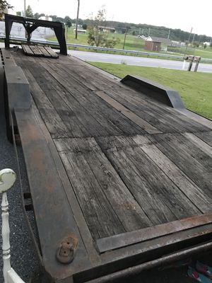 32' flat deck car trailer