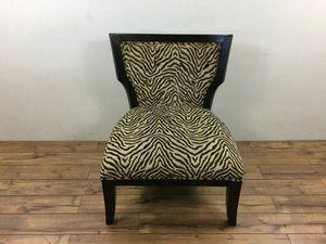 Zebra Print Slipper Chair (1010807)