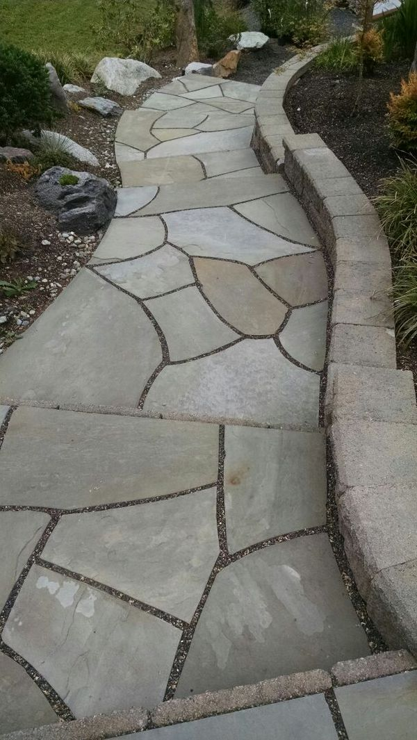 how to cut bluestone flagstone