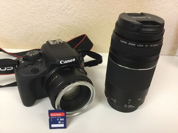 Canon EOS Rebel SL1 with 2 lenses
