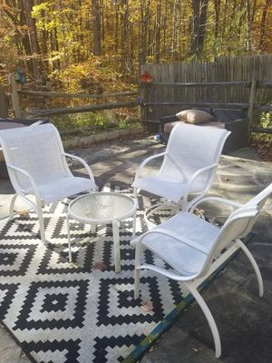 Outdoor White Patio/balcony set