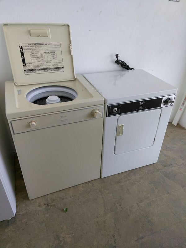 Whirlpool apartment size washer and 110 volt dryer set (Appliances ...