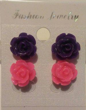 Rose Earring Set