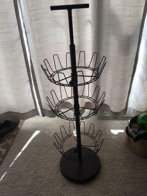 Spiral three tier shoe rack