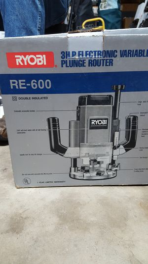 Ryobi 3 HP electronic variable speed plunge router. New in box.
