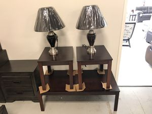 Brand New Occasional Package With Tables And Lamps