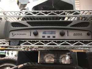 Crown 4002 XTI Series 2 channel amp - As Is