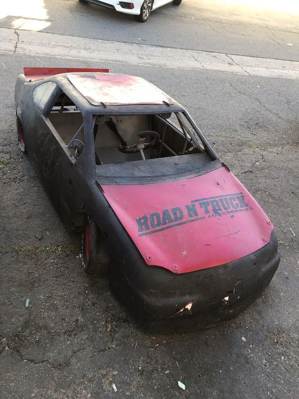 Mini Nascar Cup Car go kart, Fiberglass body with full roll cage ...