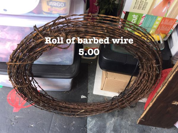 Roll of barbed wire rustic general in wichita ks