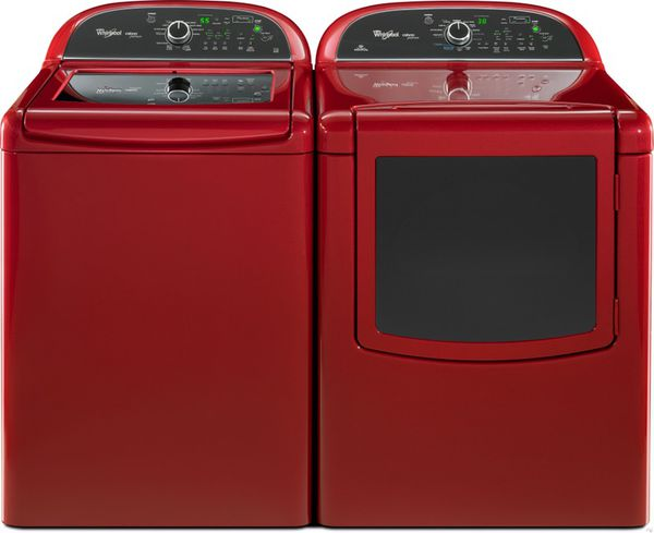 Red Whirlpool Cabrio Platinum He Xl Washer And Steam Dryer