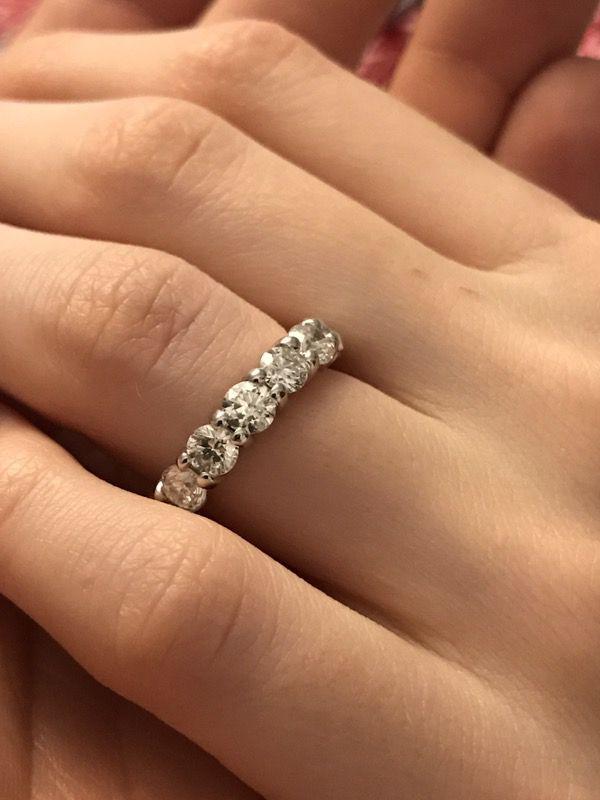 Jared Jewelers white gold 3 Karats in diamonds eternity anniversary