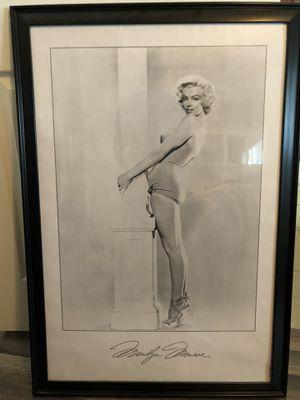 Poster size Framed Marilyn Monroe