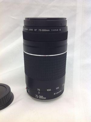 Canon EF 75 - 300mm F/4 - 5.6 III zoom lens
