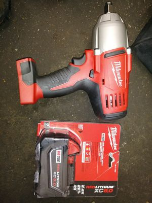 Brand new Milwaukee 1/2 cordless wrench with battery