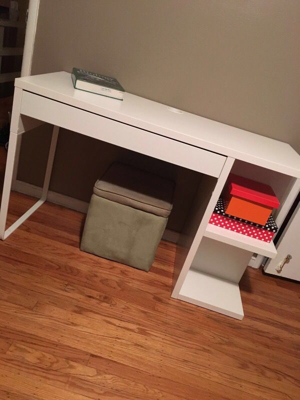 Ikea Micke Desk With Integrated Storage Furniture In