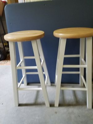 Country look bar stools two in set