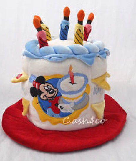Disneyland Mickey Mouse Plush Birthday Hat Disney World Games