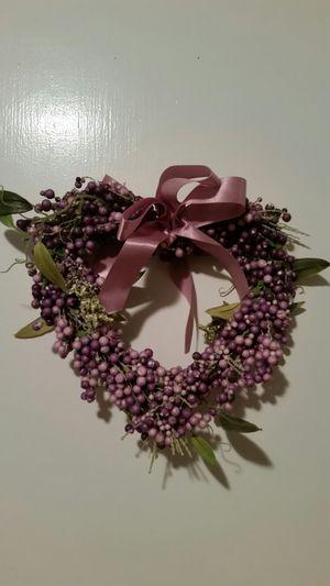 Small purple heart wreath