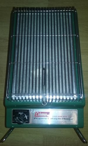 Vintage Coleman Propane Camping Heater