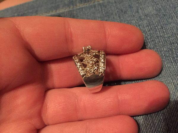 Sterling Silver CZ Ring size 5 - Valentine's Day
