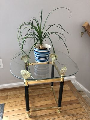 2x glass top end table