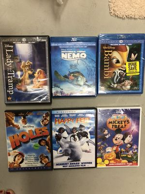 6 Family DVDs, three are Blue Ray
