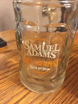 Sam Adams octoberfest stein glass